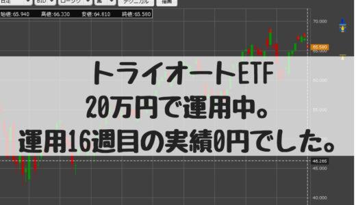 トライオートETF、20万円で運用中。運用17週目の実績0円でした。2018/10/29週