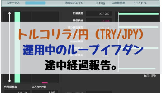 トルコリラ/円(TRY/JPY)のループイフダン途中経過を報告【意外に自動売買向き!?】