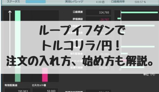 ループイフダンでトルコリラ/円!実績、注文の入れ方、始め方も解説!