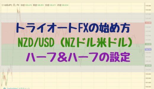 トライオートFXの始め方 NZD/USD(NZドル米ドル)ハーフ&ハーフの設定【ビルダー機能】