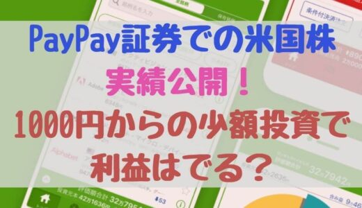 PayPay証券(旧One Tap BUY)の実績公開!1000円からの少額投資で利益はでる?