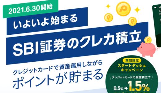 SBI証券のクレカ積立で毎年6000円分が獲得可能!さらに半年間は+1%還元!
